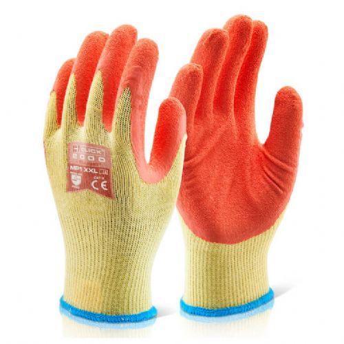Click Multi Purpose Orange Grip Gloves - 100 Pairs